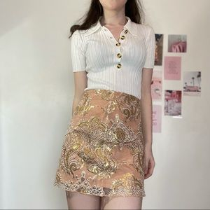 Sparkly pink and good sequin skirt